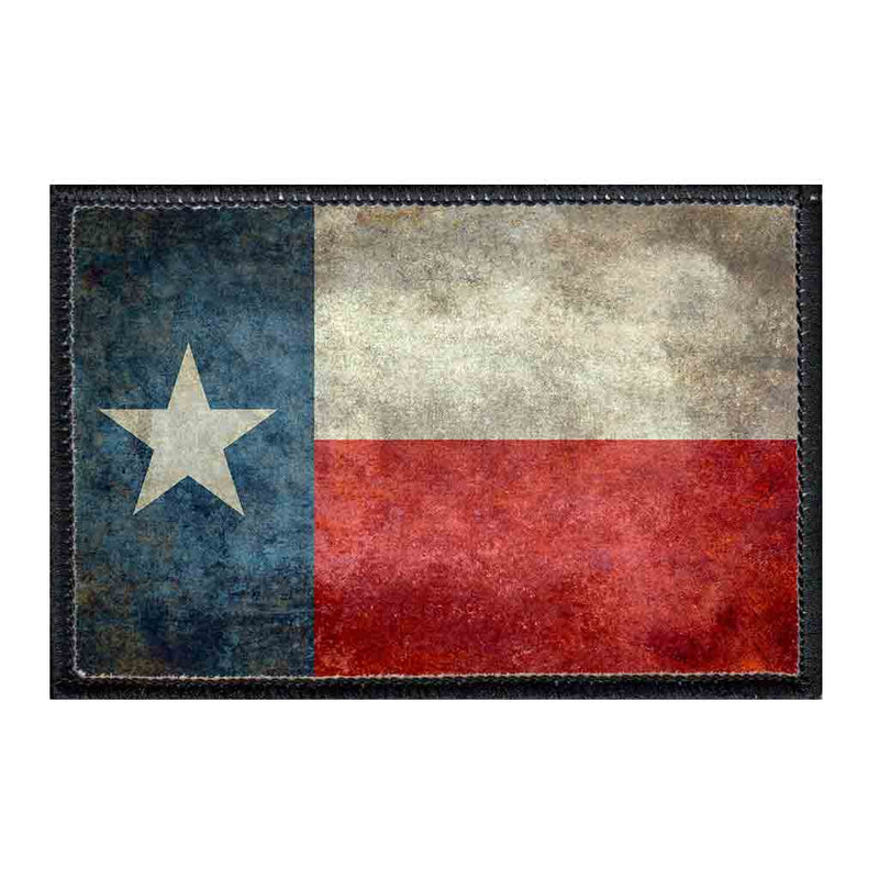 Texas State Flag - Distressed - Color- Patch - Pull Patch - Removable Patches For Authentic Flexfit and Snapback Hats