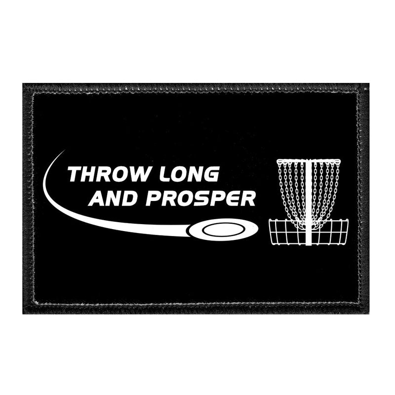 Throw Long And Prosper - Disc Golf - Removable Patch - Pull Patch - Removable Patches For Authentic Flexfit and Snapback Hats