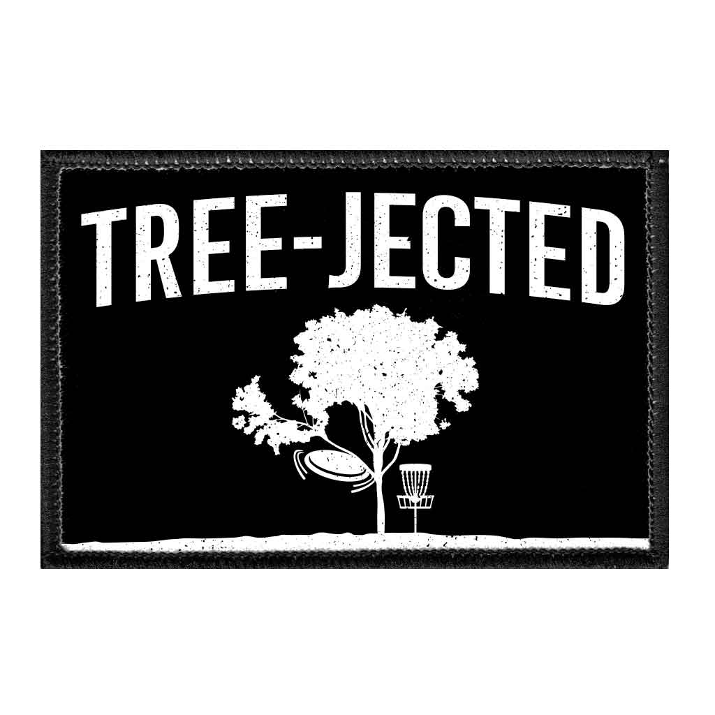 Tree-Jected - Disc Golf - Removable Patch - Pull Patch - Removable Patches For Authentic Flexfit and Snapback Hats