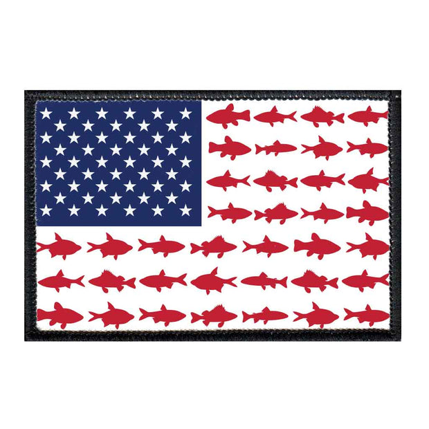 US Flag - Fish - Removable Patch 1