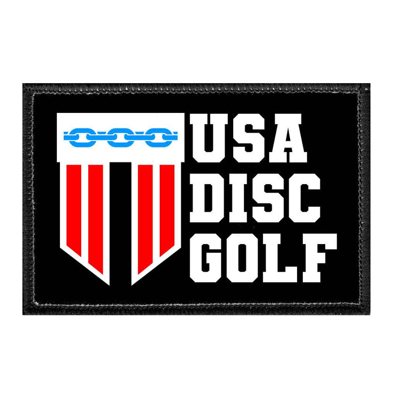 USA Disc Golf - Removable Patch - Pull Patch - Removable Patches For Authentic Flexfit and Snapback Hats