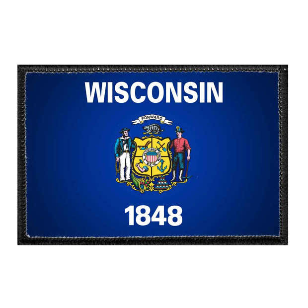 Wisconsin State Flag - Color - Removable Patch 1