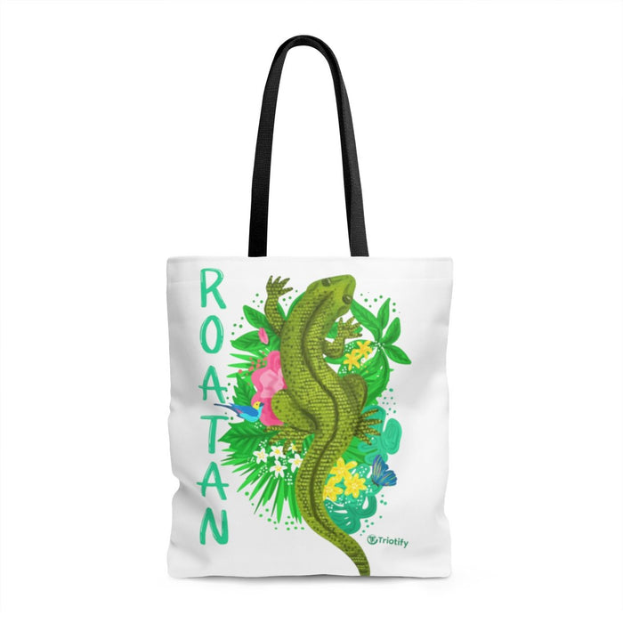 Roatan Green Iguana Top View Tote Bag - Triotify, LLC
