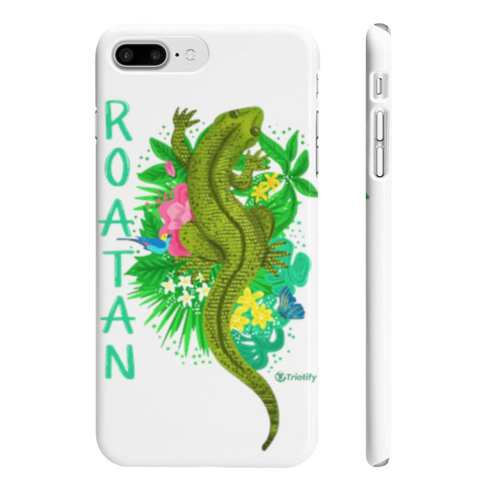Top View Hand Painted Roatan's Spiny-tailed Iguana Slim iPhone Cases - Triotify