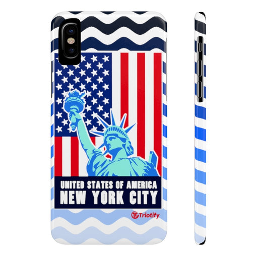 Lady Liberty , New York - United Sates | Slim iPhone/Samsung Case - Triotify, LLC