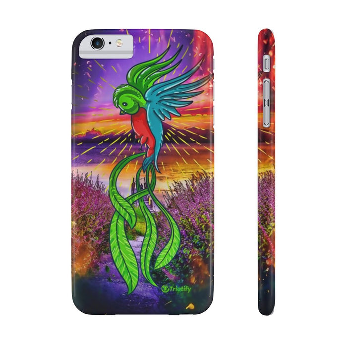 Guatemala's National Bird, Quetzal -  Slim iPhone Case - Triotify