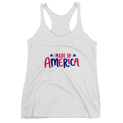 Made in America ( 4th of July ) Women's Racerback Tank Top - Triotify