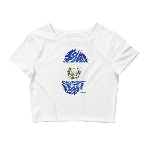 El Salvador's Finger Print Women's Crop Top - Triotify