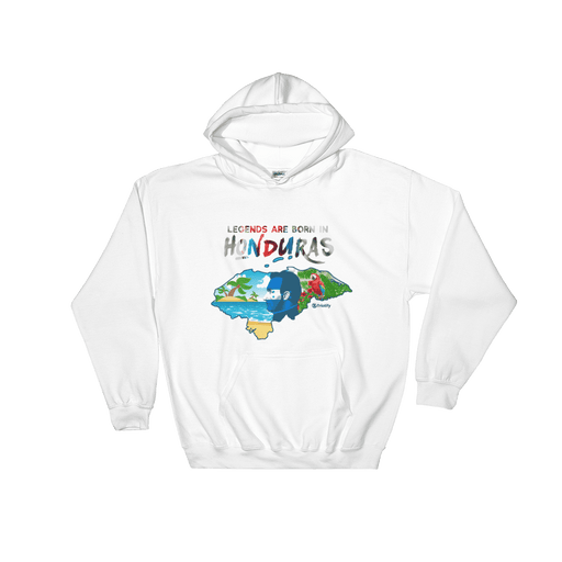 Legends Are Born In Honduras Unisex White Hoodie - Triotify