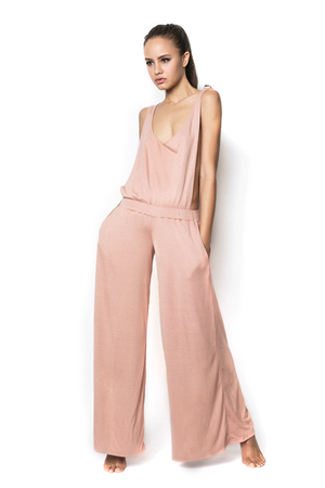 Peach Boy Bye Ex-Boyfriend Tweed Jumpsuit