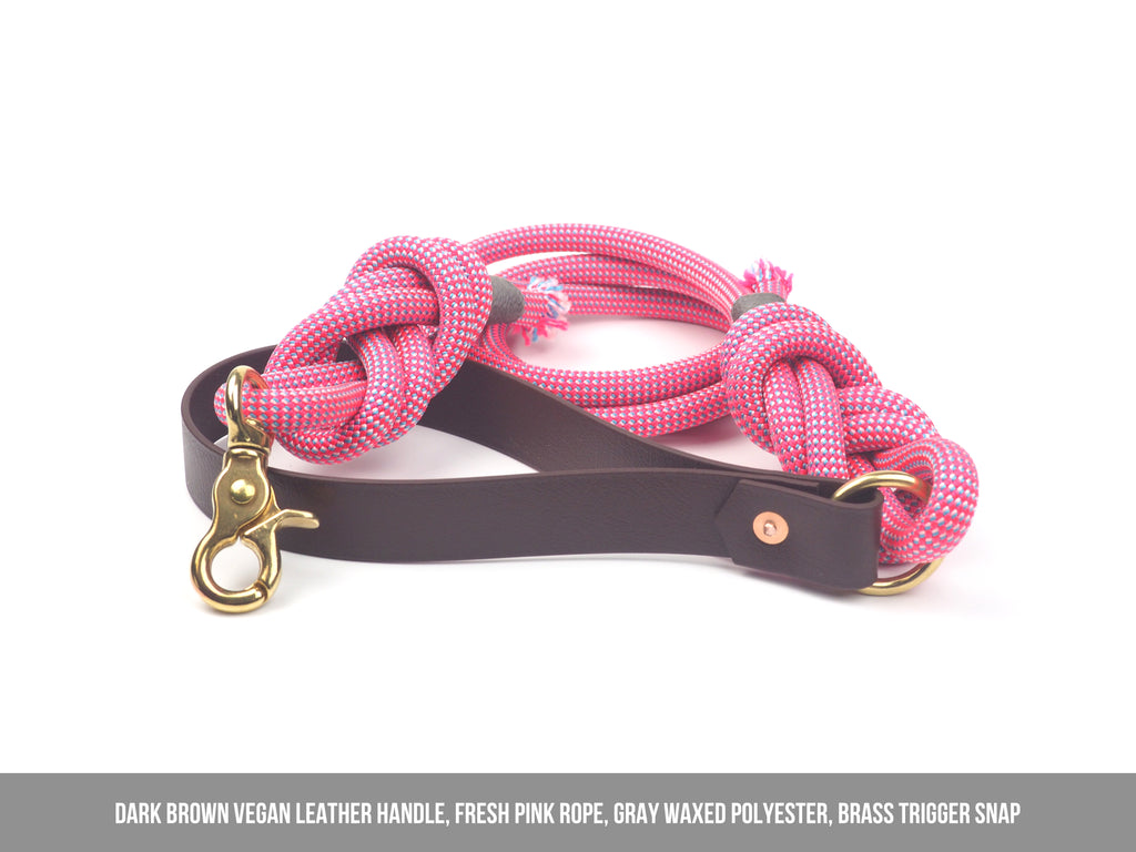 FRESH PINK Rope Leash - 9.2mm width
