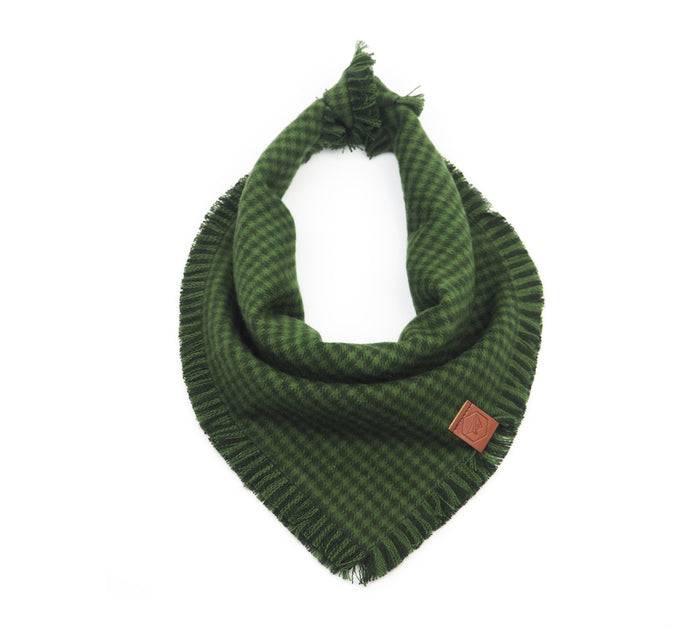HUNTER GREEN Fringe Bandana