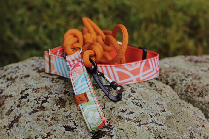 BRIGHT ORANGE Rope Leash - 7.8mm width