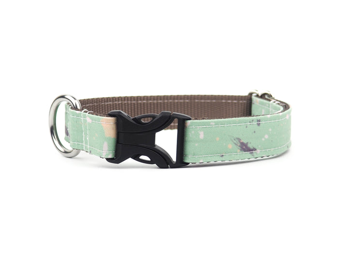 SPLATTERED MINT Canvas Collar