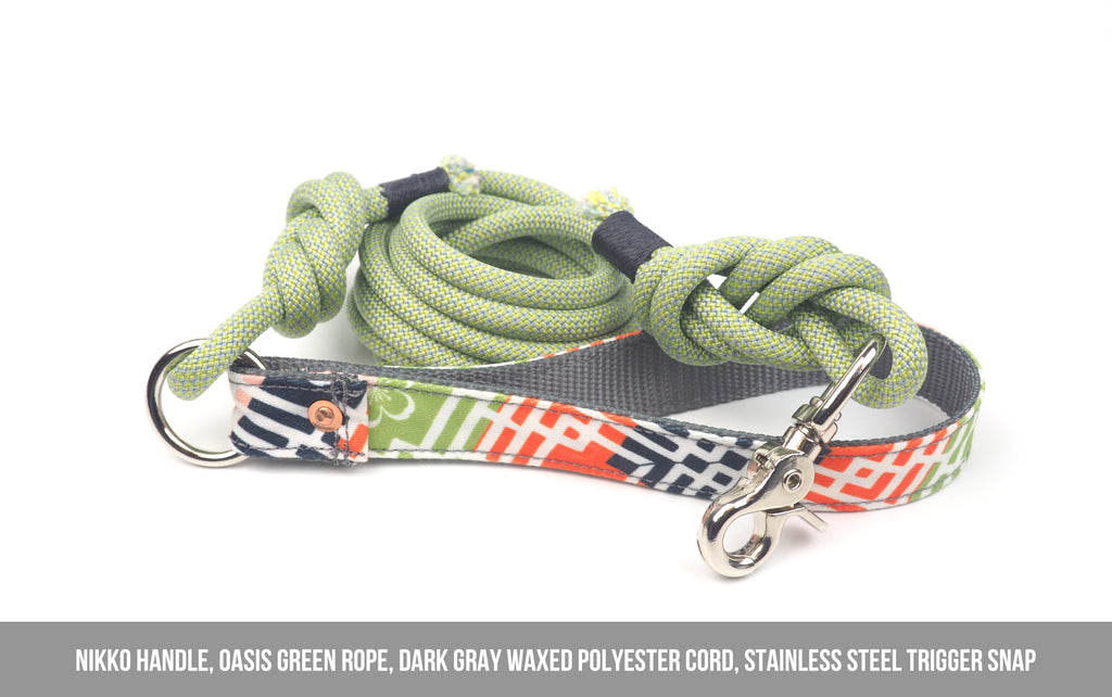 OASIS GREEN Rope Leash - 7.1mm width