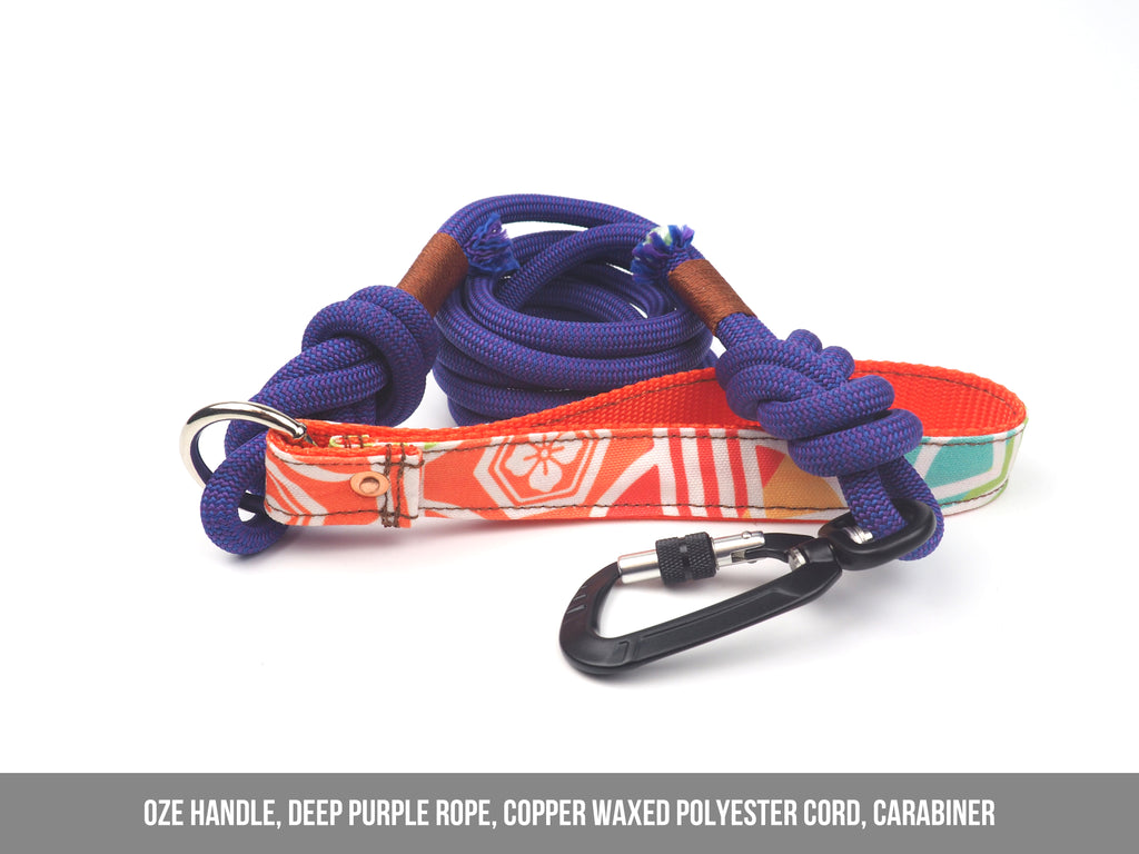 DEEP PURPLE Rope Leash - 7.8mm width