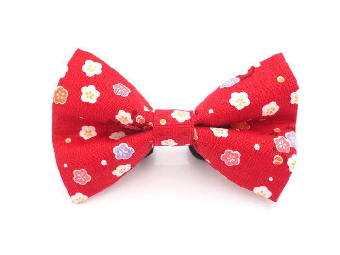 Red Cherry Blossoms Bow