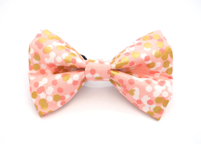 Pink & Gold Confetti Bow