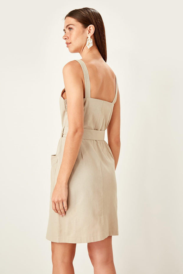 Beige Belt Dress-MILLA-SULZ