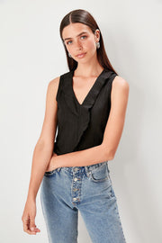 Black Knitted Casual Blouse-MILLA-SULZ