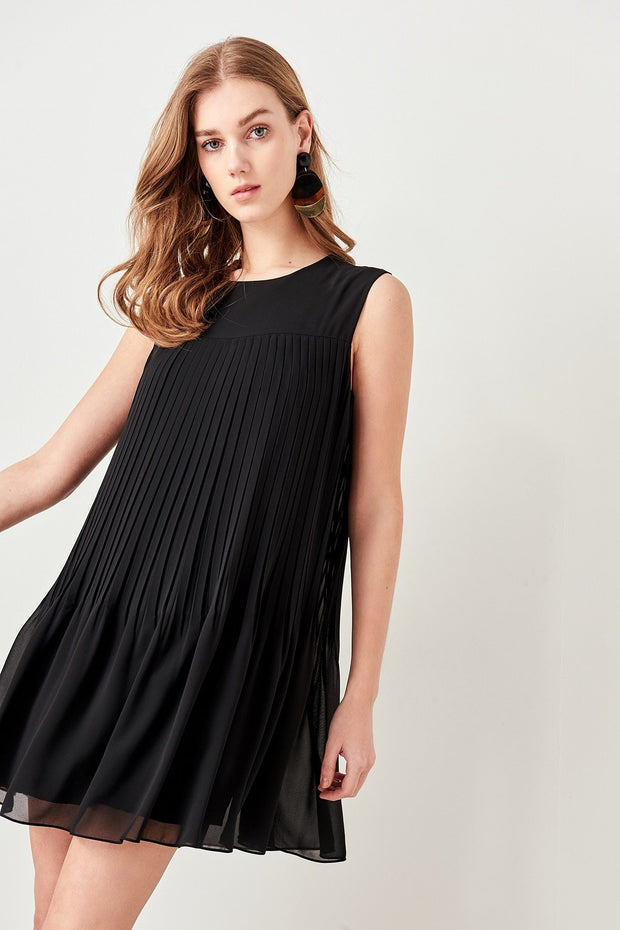 Black Pleated Dress-MILLA-SULZ