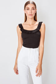 Black Ribbed Knitted Blouse-MILLA-SULZ
