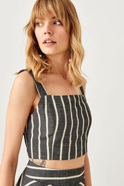 Black Striped Line Blouse-MILLA-SULZ