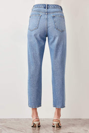 Blue Black High Waist Boyfriend Jean-MILLA-SULZ