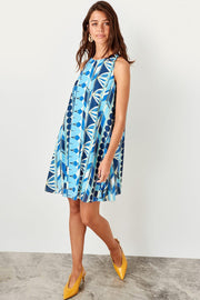 Blue Print Dress-MILLA-SULZ
