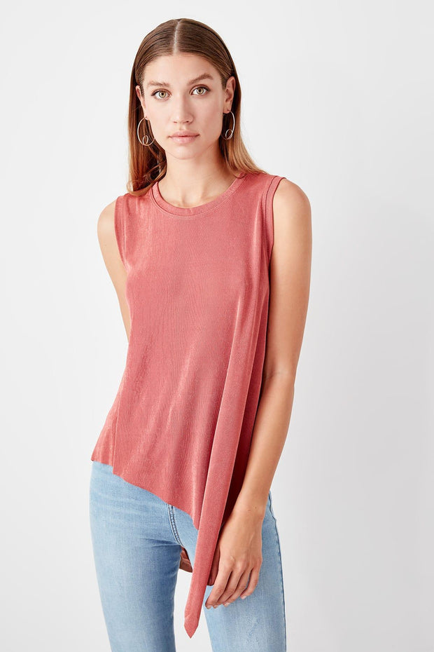 Color Rose Asymmetrical Knitted Blouse-MILLA-SULZ