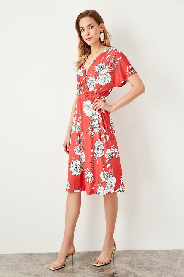 Coral Pattern Knitted Dress-MILLA-SULZ