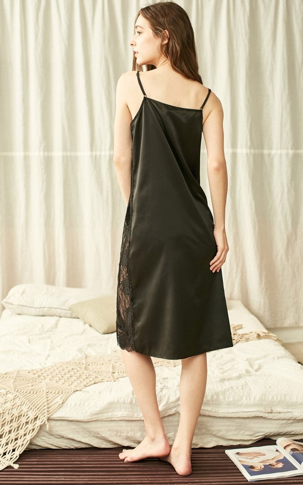 Ins Style Smooth Side Cut-outs Slip Night Dress-VEROMODA-SULZ
