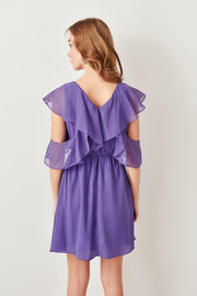 Lilac Frilly Dress-MILLA-SULZ