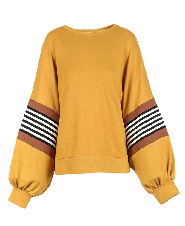 Long-sleeved Knitted Sweatshirt Hoodies Top-VEROMODA-SULZ