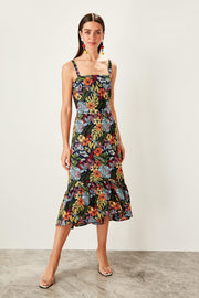 Multicolour Flower Pattern Dress-MILLA-SULZ