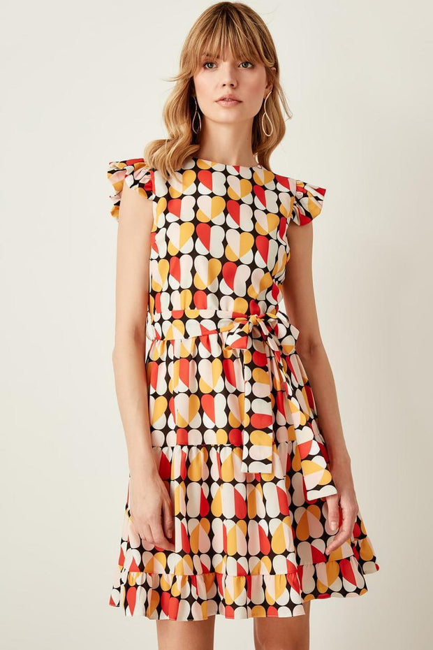 Multicolour Pattern Dress-MILLA-SULZ