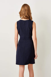 Navy Buckle Detail Dress-MILLA-SULZ