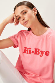 Pink Printed Knitted T Shirt-MILLA-SULZ