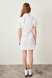 Poplin Ecru Basic Dress-MILLA-SULZ