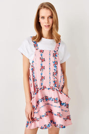 Powder Flower Patterned Knitted Dress-MILLA-SULZ