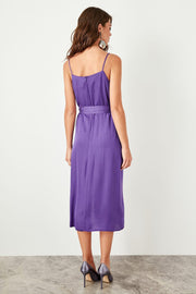 Purple Suspenders Belt Detail Dress-MILLA-SULZ