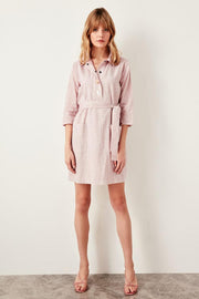 Red Button Detail Dress-MILLA-SULZ