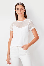 White Gauze Knitted Blouse-MILLA-SULZ