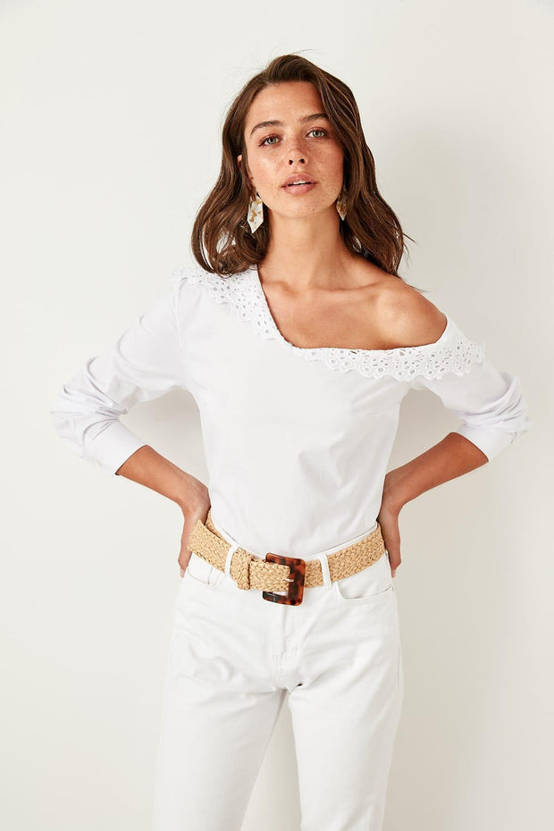 White Lace Collar Blouse-MILLA-SULZ