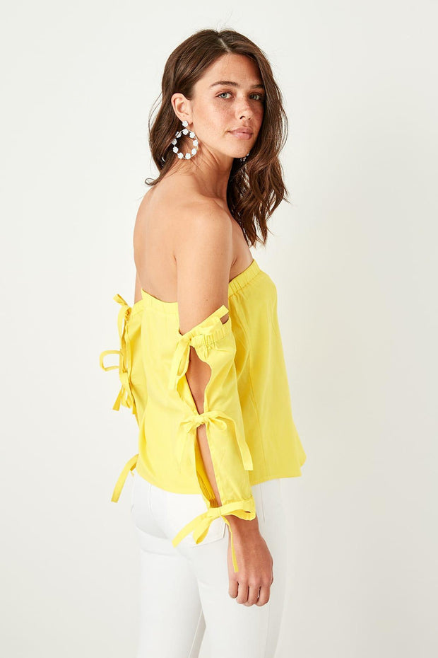 Yellow Carmen Collar Blouse-MILLA-SULZ