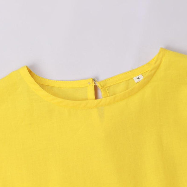 Yellow Slim Mini Dress-THE TWO TWINS-SULZ