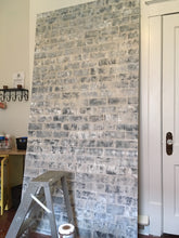 Faux Effect Panel on Plywood - Aged Grey Brick