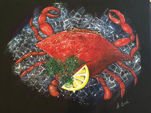 """Crab on Ice"" - Original Painting"