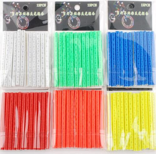 12 Pcs Bicycle  Spoke  Warning Light   Reflective Strip
