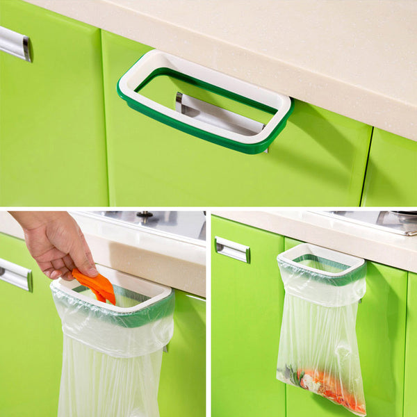 Over -The -Door Hanging Trash Bag Holder.